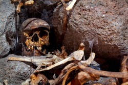 Guanajuato  mummy. Very shallow depth of field.