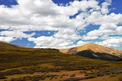 Guanella Pass road near Denver Colorado in autumn