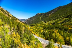 Guanella Pass Scenic Byway in the fall, Pike National Forest, in the Rocky Mountains, Colorado, USA