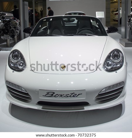 GUANGZHOU, CHINA - DEC 27: Porsche boxster sport car on display at the 8th China international automobile exhibition. on December 27, 2010 in Guangzhou China.