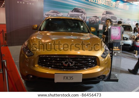 GUANGZHOU, CHINA- OCT 2 An Infiniti F35 suv on display at the Guangzhou Daily Baiyun International automobile exhibition on October 2, 2011 in Guangzhou, China.