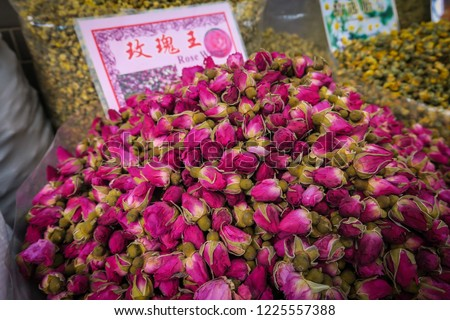 Guangzhou food marked, traditional food. China