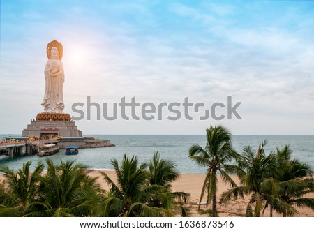 Guanyin on the sea, Nanshan, Hainan, China