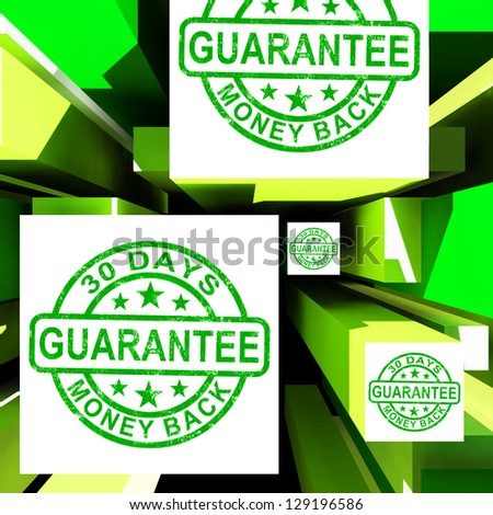 Guarantee On Cubes Shows Certificated Item Or Customers Satisfaction