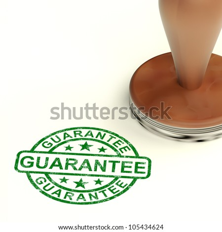 Guarantee Stamp Showing Assurance And Risk Free - stock photo