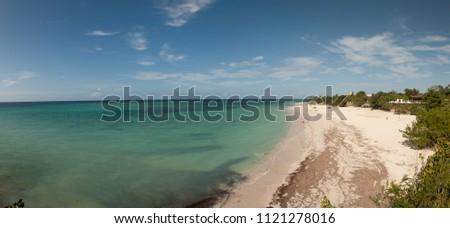 GUARDALAVACA BEACH, CUBA -SEPT 13 2011- Appearance of Guardalavaca beach, at Holguin province, Cuba in 2011.
