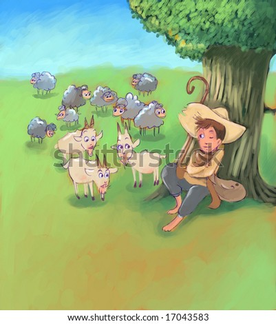 guarding flock (search the word nikos for more)