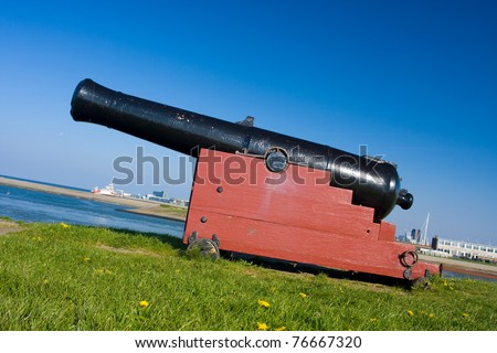Guarding the city: cannon on a fort wall