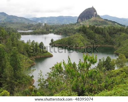 Guatape rock - stock photo