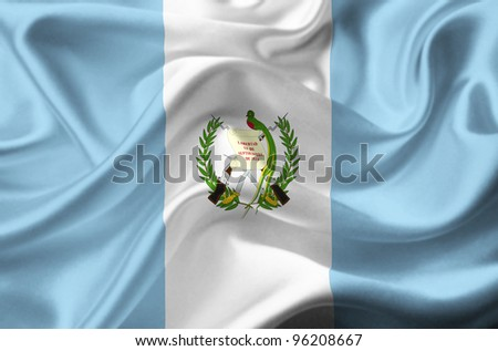 Guatemala waving flag