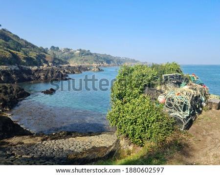 Guernsey Channel Islands, Bec Du Nez, Boat Port Photo stock ©