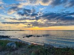 Guernsey Channel Islands, Chouet Beach Sunset