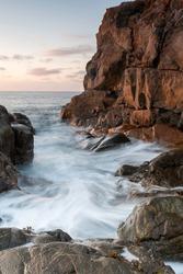 Guernsey long exposure sunset landscape