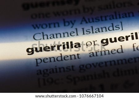 Shutterstock guerrilla guerrilla concept.
