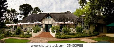 Guest house with a garden restaurant