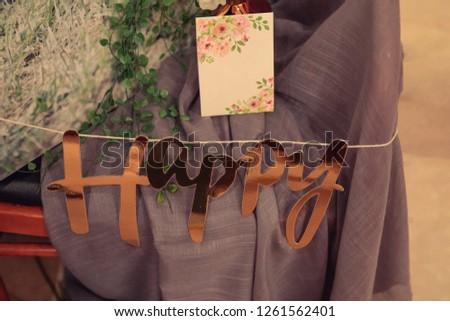 Guest room guest room nametec and congratulatory letter decoration #1261562401