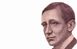 Guglielmo Marconi, Portrait from Italy 2000 Lire 1990  Banknotes.