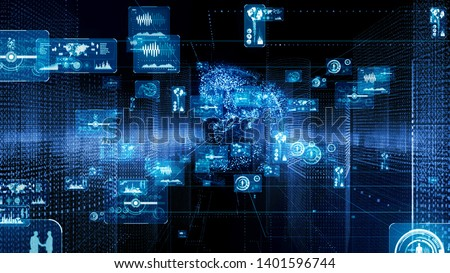 GUI (Graphical User Interface) concept. Cyberspace.