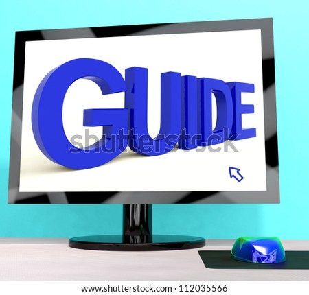 Guide Word On Computer Showing Guidance Or Training