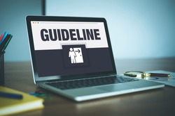 Guideline Icon Concept on Laptop Screen