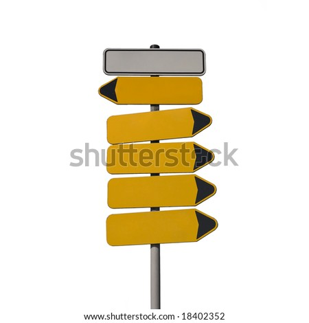 guidepost isolated on white #18402352