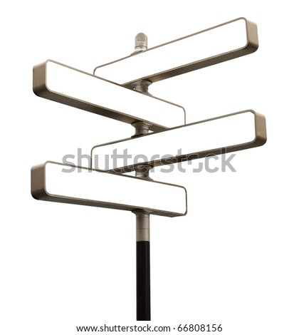 Guidepost isolated on white