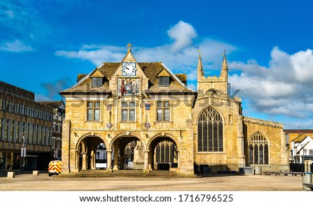 Guildhall at Cathedral Square in Peterborough - Cambridgeshire, England