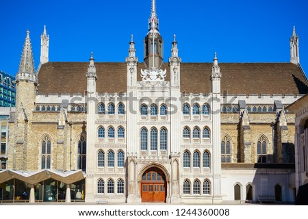 Guildhall complex with Guildhall and Guildhall Art Gallery in the City of London in the UK
