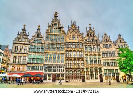 Guildhalls on the Grote Markt Square in Antwerp - Flanders, Belgium