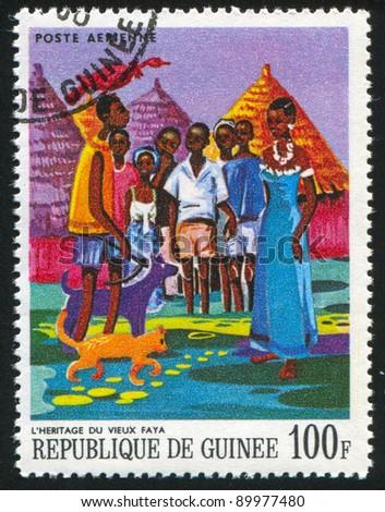 guinea   circa 1968  a stamp...