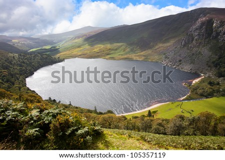 Guinness Lake in Wicklow Mountains  Ireland