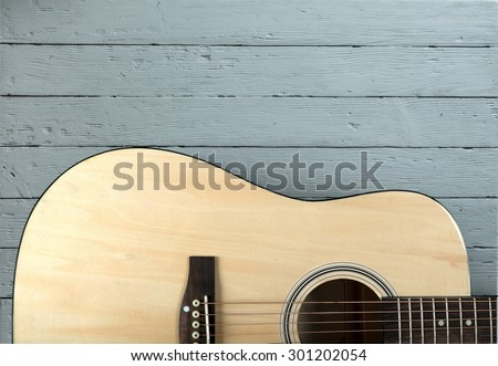 Guitar, Acoustic Guitar, Isolated.
