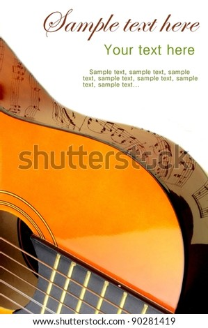 Guitar and note reflection