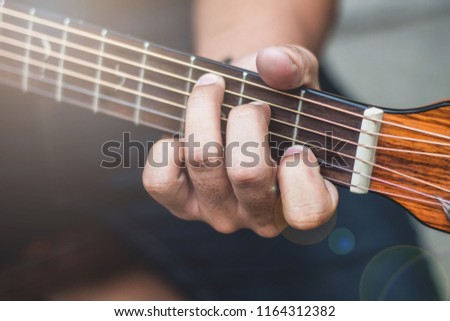 Guitar Chord Handle,Handle chords on bar guitar and scratching guitar,Students learn guitar chords.