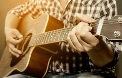 Guitar Close up being played