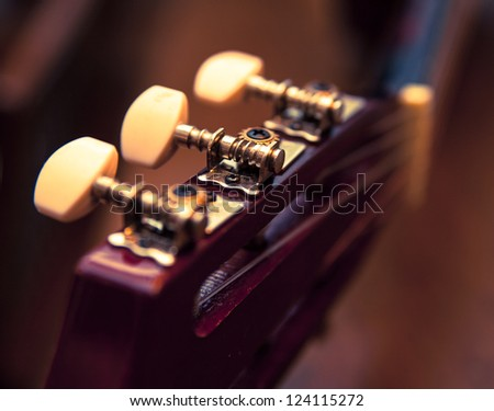 Guitar detail. Music concept