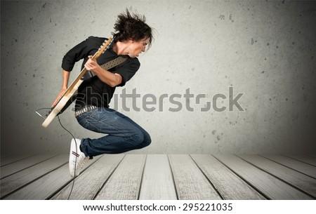 Guitar, Guitarist, Musician.