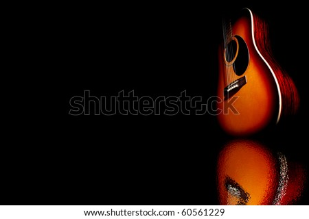 guitar in reflection