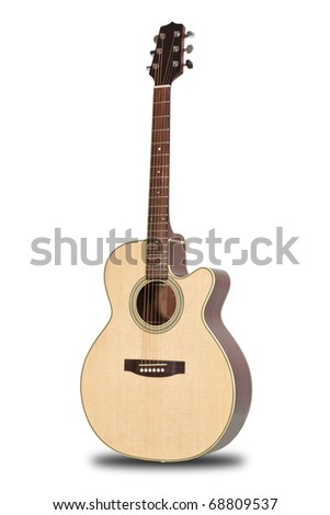 Guitar isolated on white back ground