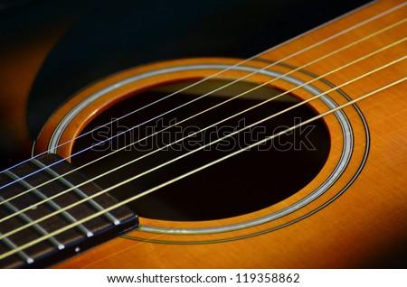 Guitar macro shot