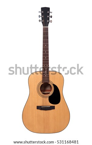 guitar on a white background