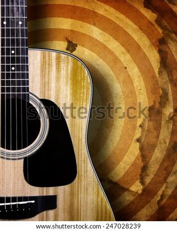 Guitar on grunge background.