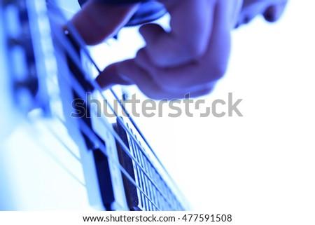 Guitar, performance, hand #477591508