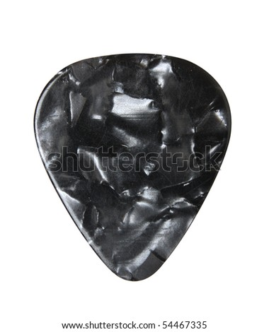 Guitar pick isolated on white, with clipping path