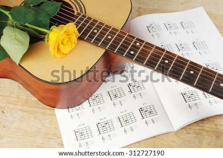 Free Photos Acoustic Guitar And Red Roses Avopix