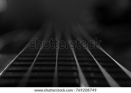 Guitar strings - Abstract.