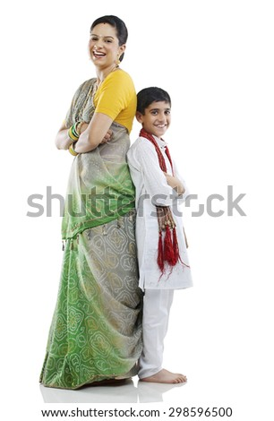 Gujarati mother and son #298596500