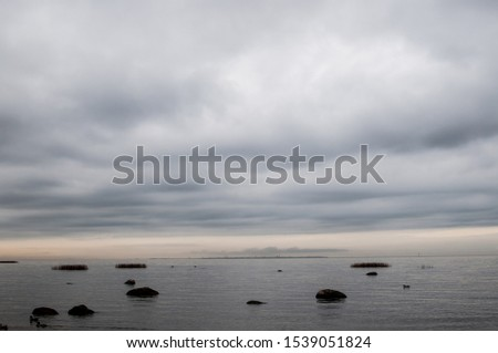 Gulf of Finland Baltic Sea in cloudy cloudy weather #1539051824