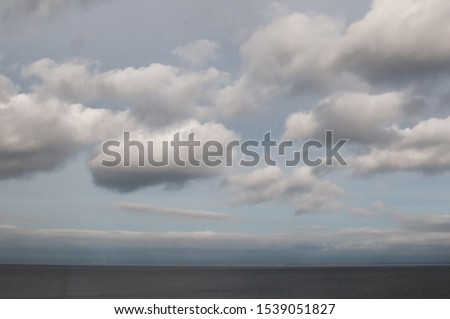 Gulf of Finland Baltic Sea in cloudy cloudy weather #1539051827