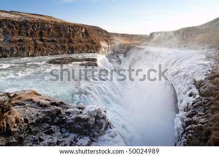 Gulfoss, Iceland. The Great Watefall.